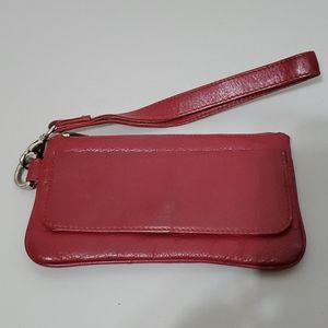 Danier Burgundy Leather Wristlet